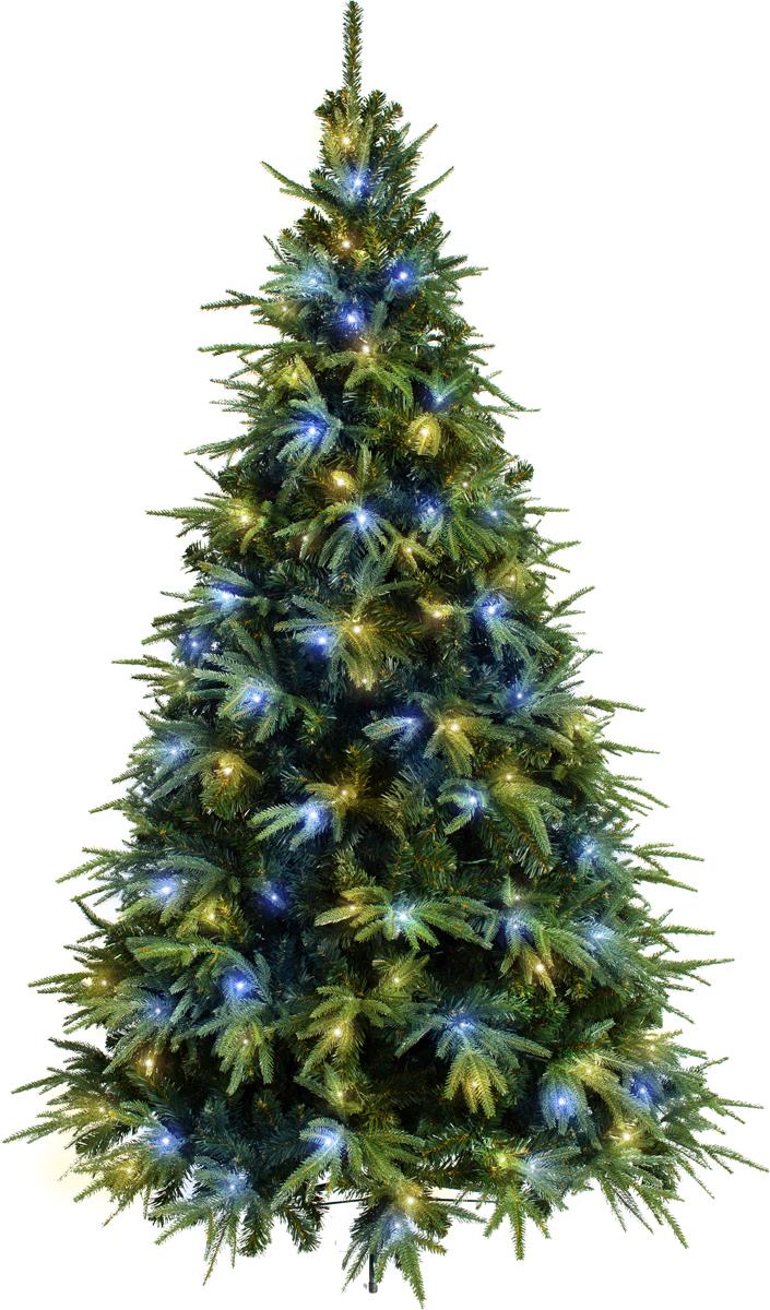 CRYSTAL TREES Искусственная Ель Альба с вплетенной гирляндой 150см. ель новогодняя crystal trees 2 3 м питерская kp8123