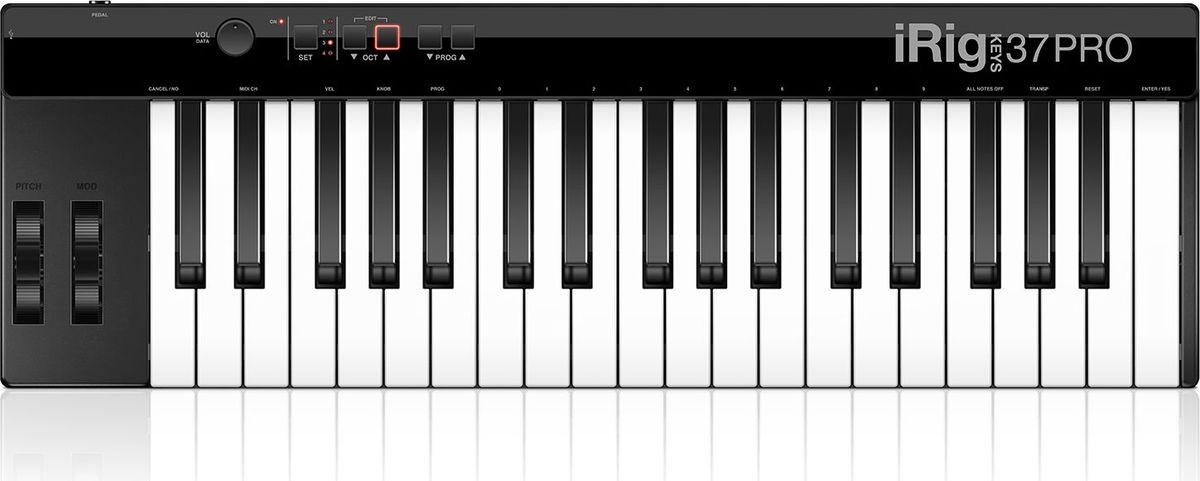 IK Multimedia iRig Keys 37 Pro, Black MIDI-клавиатура ik multimedia irig 2