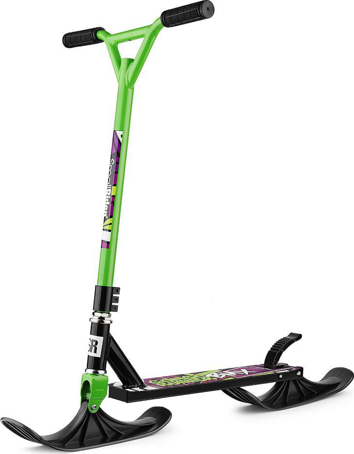 Самокат-снегокат Small Rider Combo Runner BMX, с лыжами и колесами, цвет: зеленый самокат bmx