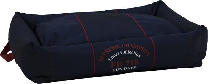 Лежак с бортами FunDays Спорт, цвет: синий, 15 x 45 x 55 см лежак матрац fundays спорт синий 10х60х75 см