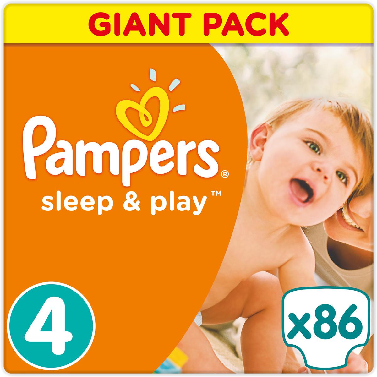 Pampers Sleep & Play Макси Подгузники 4, 9-14 кг, 86 шт недорого