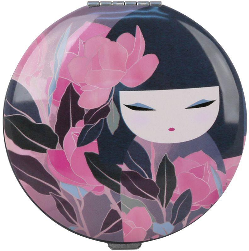 Зеркало косметическое Kimmidoll Казуко, цвет: розовый, диаметр 7 см косметичка женская kimmidoll цвет розовый kf1193