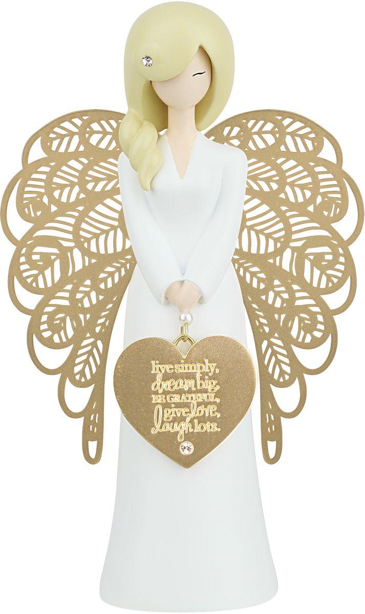 """Статуэтка You are an Angel """"Живи просто, мечтай о большом, будь благодарным, искренне смейся и люби"""", 9,3 x 15,5 см"""