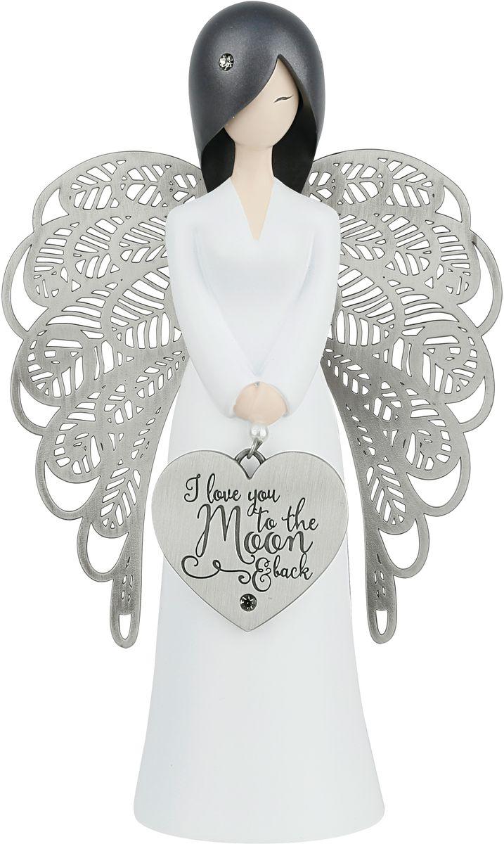 """Статуэтка You are an Angel """"Моя любовь к тебе больше, чем как от Земли до Луны и обратно!"""", 9,3 x 15,5 см"""