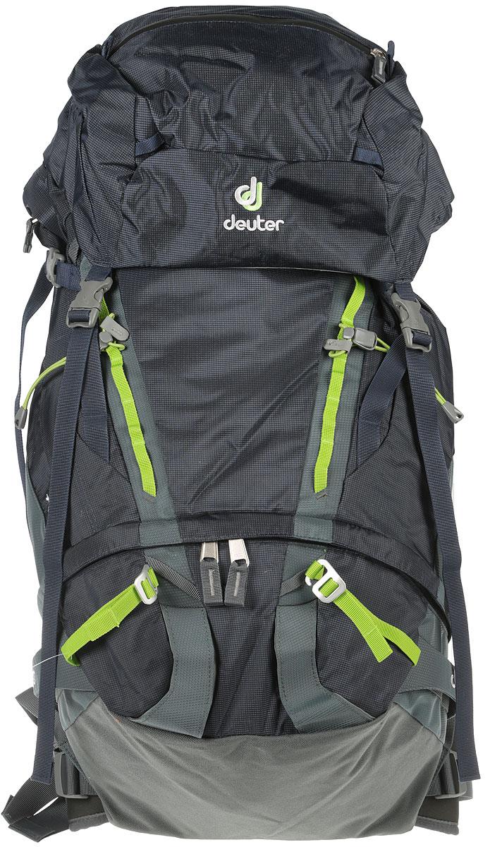 цена на Рюкзак туристический Deuter Guide, цвет: серый, темно-синий, 45 л