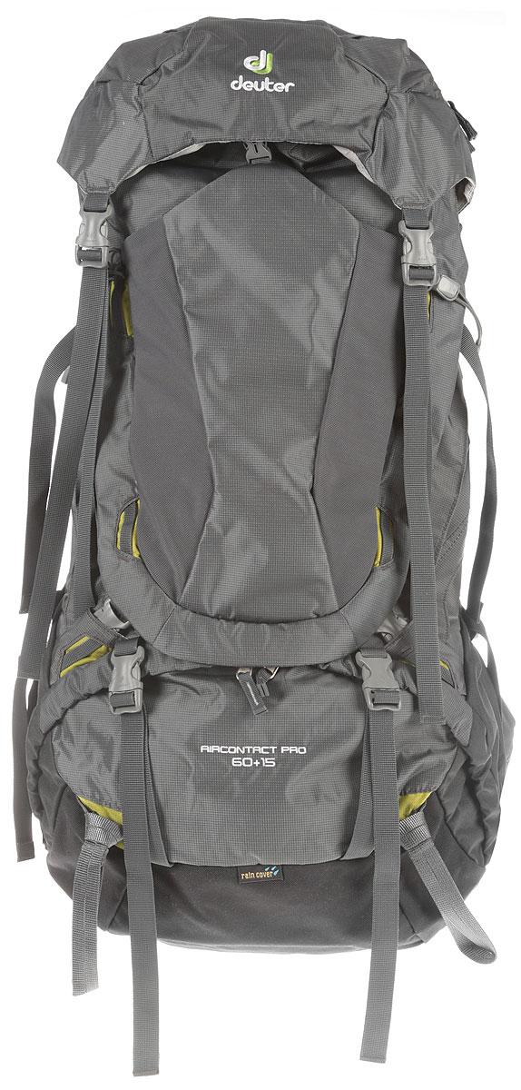 Рюкзак туристический Deuter Aircontact, цвет: серый, 60 л