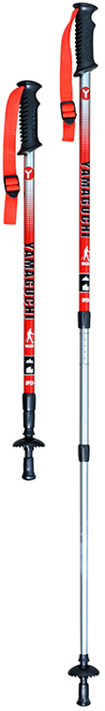 Палки для скандинавской ходьбы Yamaguchi Walker, цвет: красный, 65-135 см массажер для головы yamaguchi galaxy белый