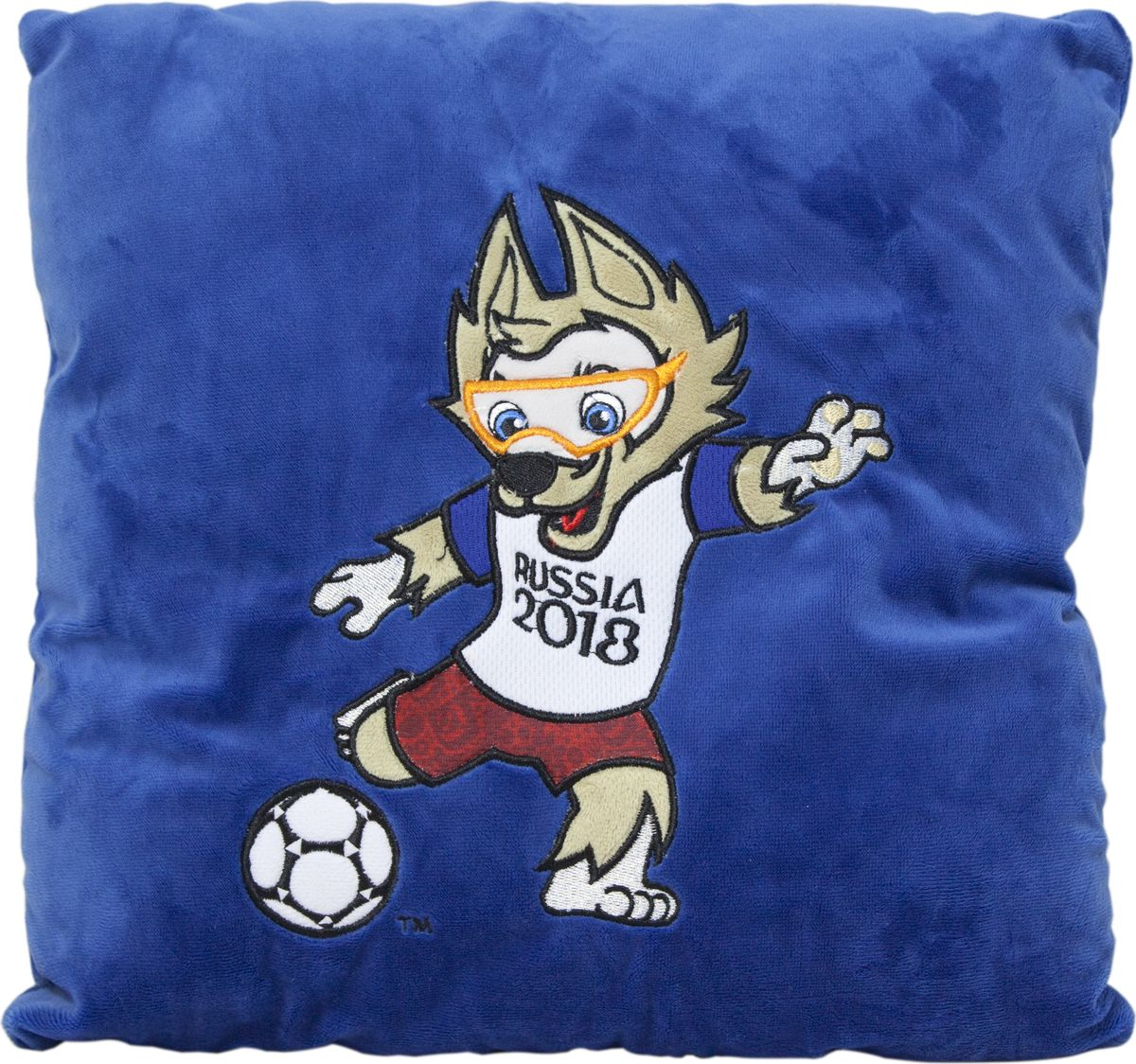 FIFA-2018 Мягкая игрушка-подушка Забивака Kicking 30 х 30 см недорого