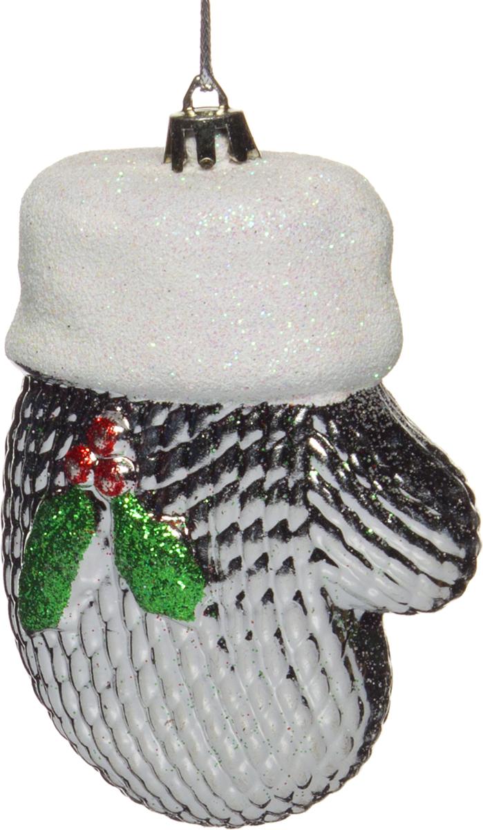 Украшение елочное House & Holder Рукавица украшение елочное подвеска блестящая крошка 2 шт в прозрачном пакете 8 см 4 цв белый красны