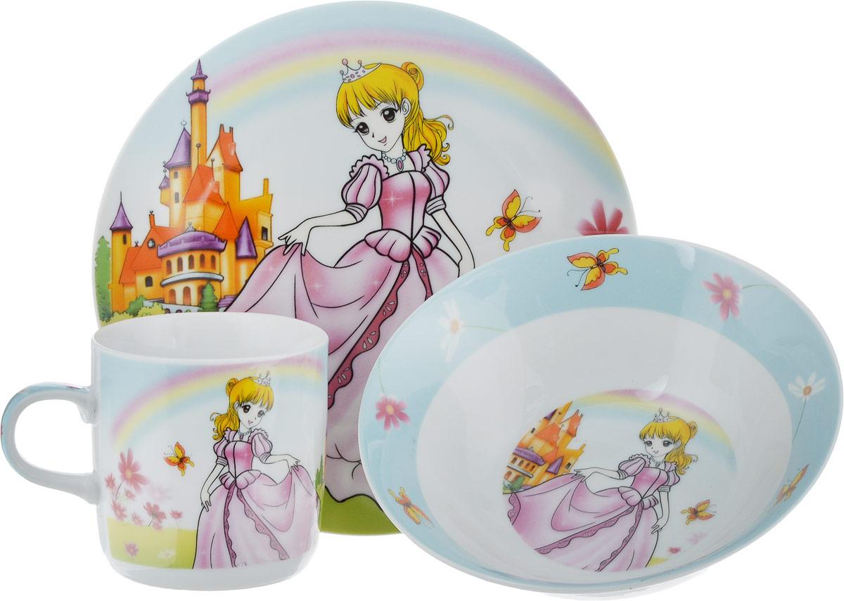 Набор посуды Mayer & Boch Принцесса, 3 предмета набор посуды принцесса софия bildo