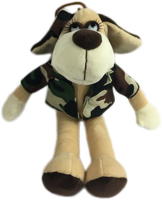 Teddy Мягкая игрушка Собака в камуфляжном костюме 15 см bondibon мягкая развивающая игрушка растяжка собака