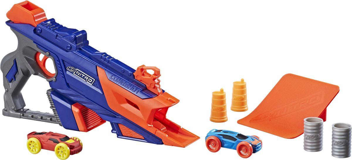 Nerf Машинка Лонгшот цвет синий, оранжевый