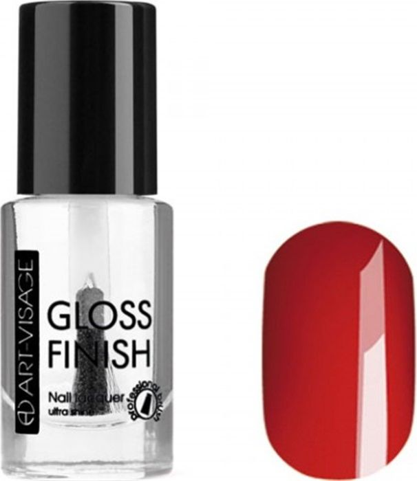 Art-Visage Лак для ногтей Gloss Finish nail lacquer, тон 117, 8,5 мл042836Новейшая гелевая текстура лака обеспечивает плотное нанесение, высокую стойкость, а также длительный мокрый эффект цвета на ваших ногтях! Красивый глянцевый цвет после первого нанесения. Безупречные ногти минимум 4 дня. Без формальдегида и толуола.