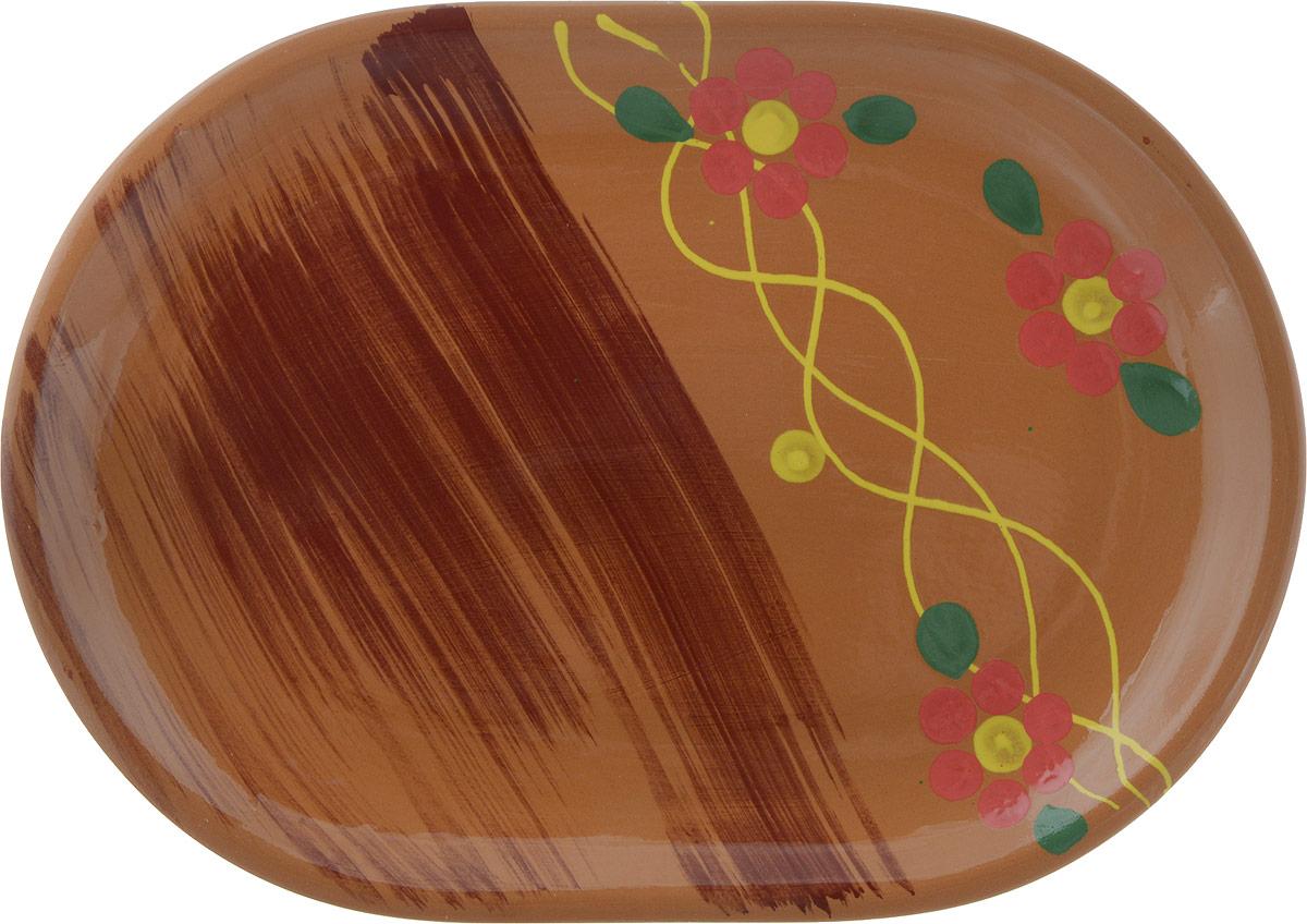 """Блюдо Борисовская керамика """"Стандарт"""", цвет: светло-коричневый"""