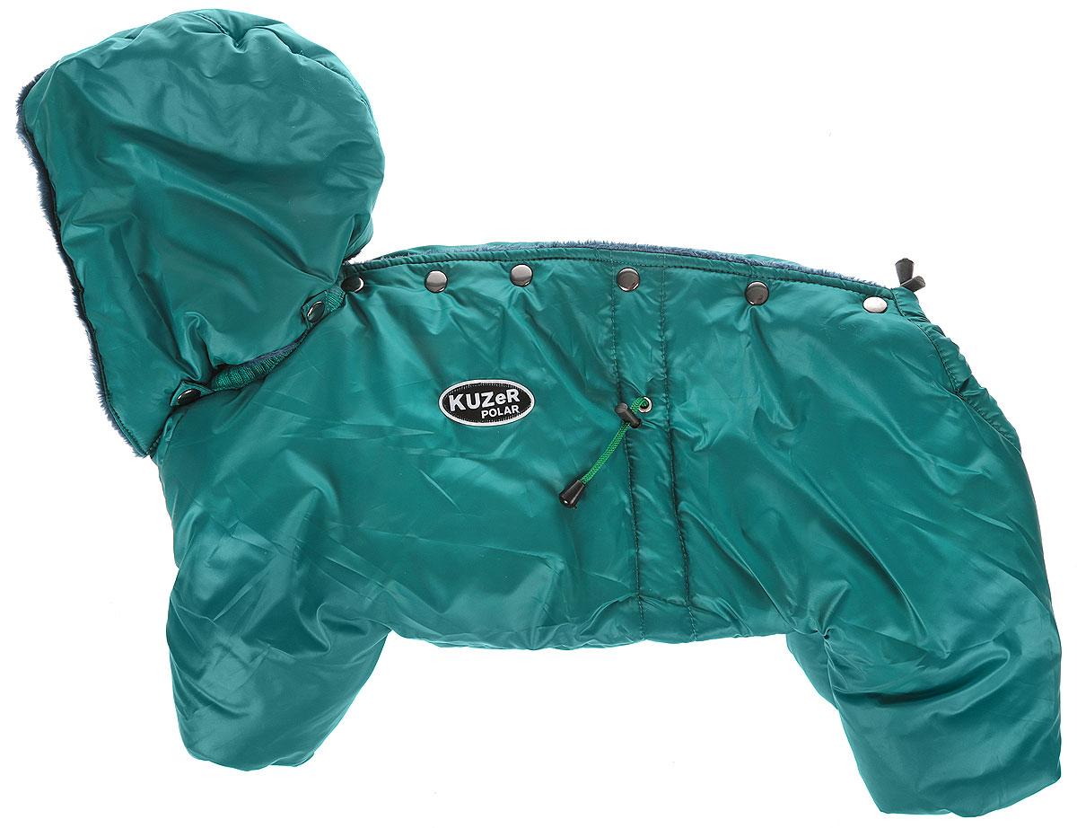 """Комбинезон для собак Kuzer-Moda """"Полярник"""", зимний, унисекс, цвет: зеленый. Размер ХL"""