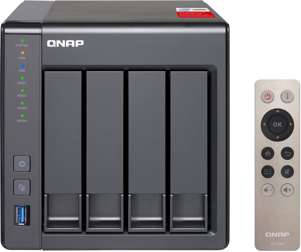 Фото - QNAP TS-451+-2G 24 ГБ сетевое хранилище сетевое хранилище qnap ts 431x2 8g сетевой raid накопитель 4 отсека для hdd 10 gbe sfp arm cortex a15 annapurna labs al 314 1 7 ггц 8 гб