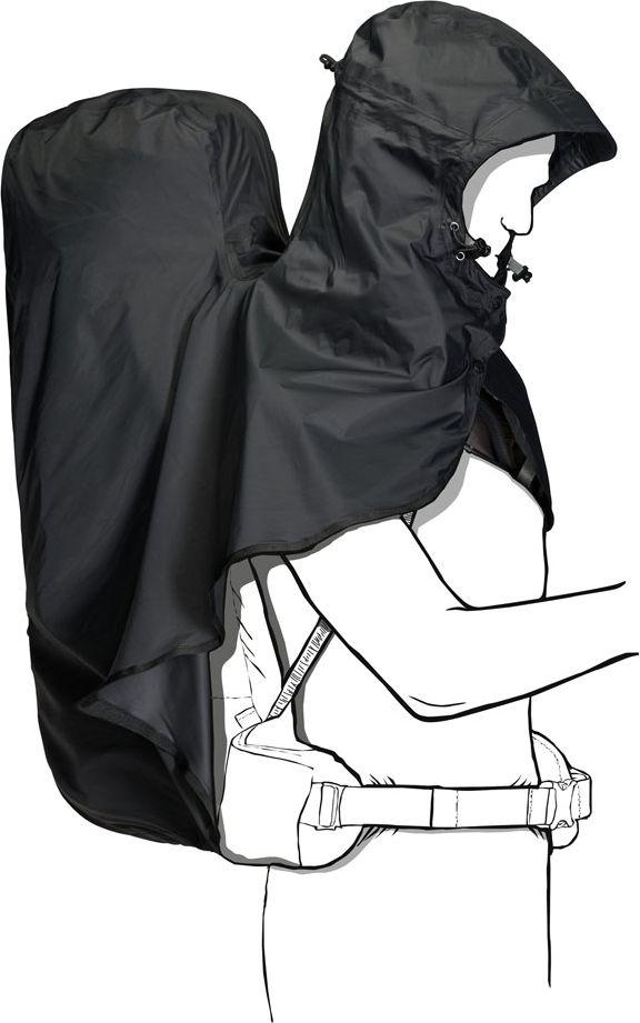 """Чехол для рюкзака Jack Wolfskin """"Raincover 40-60L"""", от дождя, цвет: темно-серый, 40-60 л. 8002711-6350"""