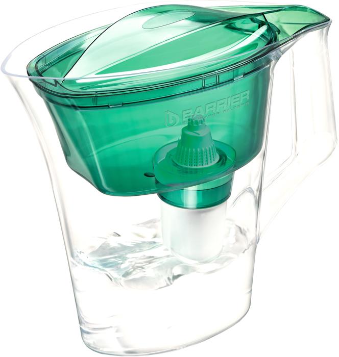 Фильтр-кувшин для очистки воды Барьер Нова, цвет: зеленый фильтр для воды барьер лайт