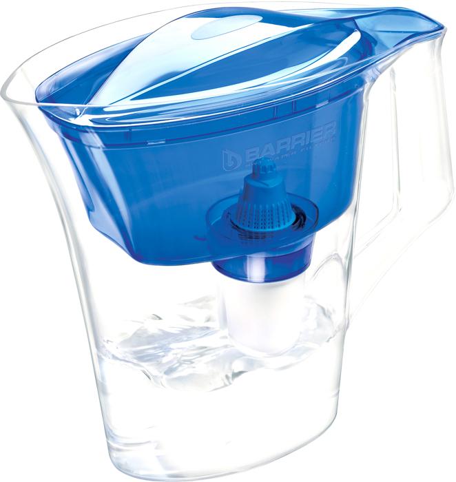 Фильтр-кувшин для очистки воды Барьер Нова, цвет: синий фильтр для воды барьер лайт