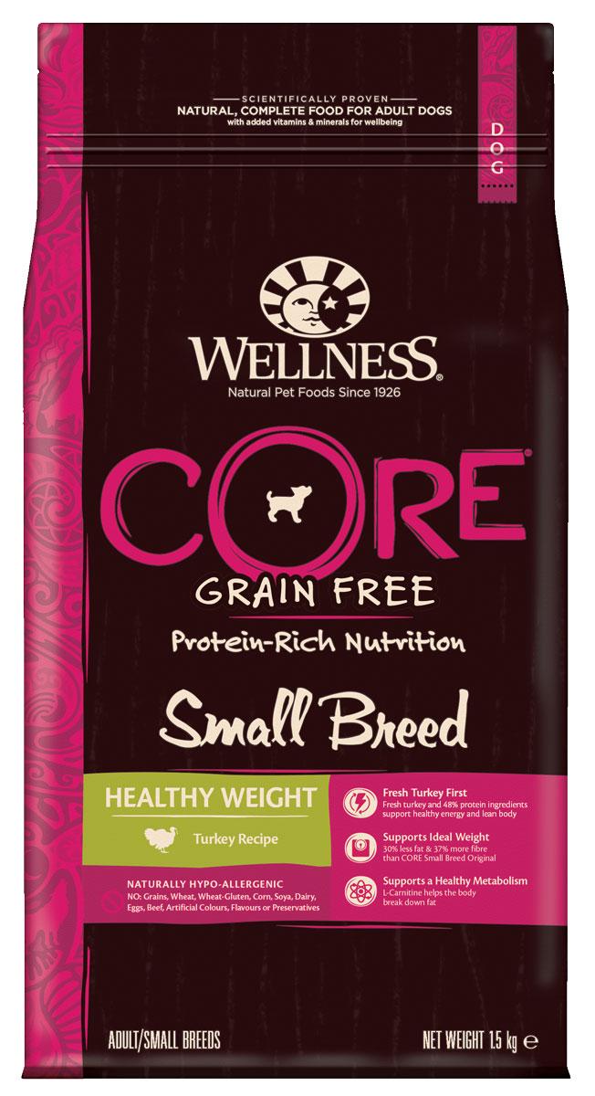 Wellness CORE Small Breed Healthy Weight беззер.cух.корм/поддерж.идеал.веса собак мел.пор.1,5кг W10738