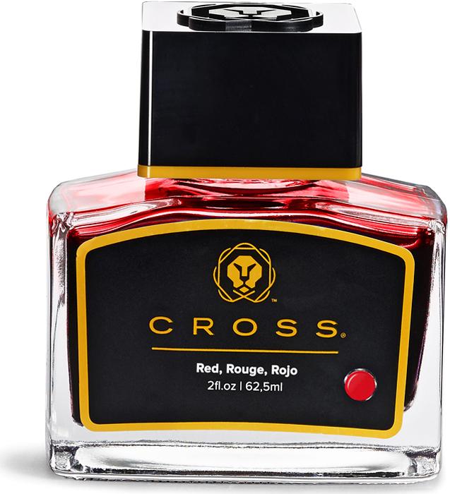 Cross Чернила для перьевой ручки цвет красный 62,5 мл