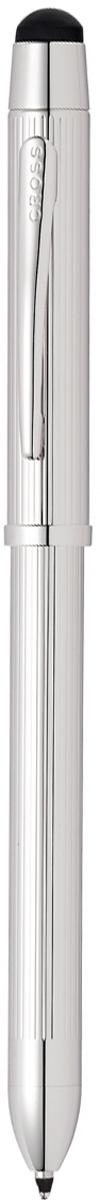 Многофункциональная ручка Cross Tech3+, цвет чернил: черный, красный, цвет корпуса: платиновый cross многофункциональная ручка tech3 цвет корпуса золотистый