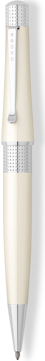 Cross Ручка шариковая Beverly черная цвет корпуса белый cross ручка шариковая bailey черная цвет корпуса серебристый