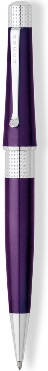 Cross Ручка шариковая Beverly черная цвет корпуса фиолетовый cross ручка шариковая bailey черная цвет корпуса серебристый