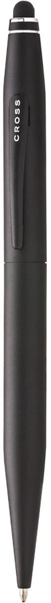 Cross Ручка шариковая Tech2 со стилусом черная цвет корпуса черный авторучка шариковая 1 0мм красный мет корпус серебристые детали со стилусом синие чернила
