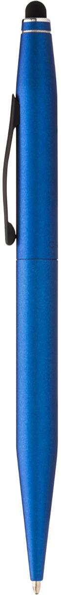 Cross Ручка шариковая Tech2 со стилусом черная цвет корпуса синий авторучка шариковая 1 0мм красный мет корпус серебристые детали со стилусом синие чернила