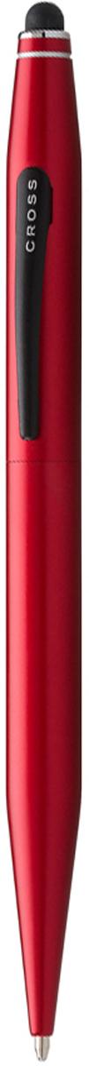 Cross Ручка шариковая Tech2 со стилусом цвет корпуса красный авторучка шариковая 1 0мм красный мет корпус серебристые детали со стилусом синие чернила