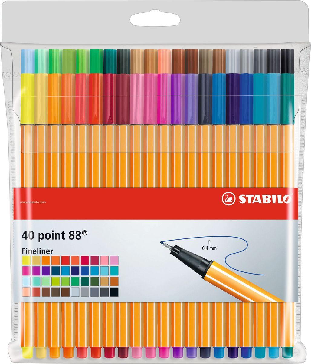 STABILO Набор капилярных ручек Point 88 40 цветов все цены