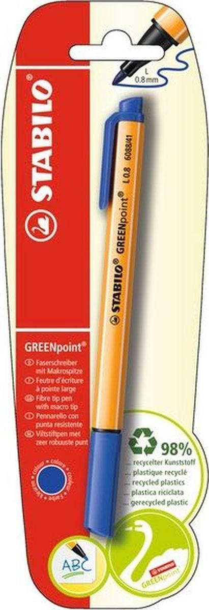 Stabilo Ручка капиллярная Greenpoint цвет чернил синий