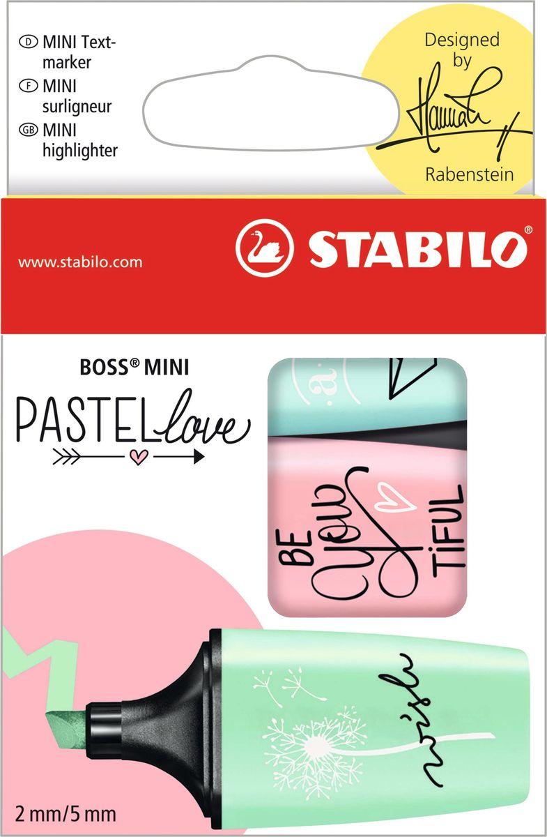 STABILO Набор маркеров Boss Mini Pastel Love 3 цвета 07/03-57 stabilo набор текстовыделителей boss pastel 4 цвета page 10