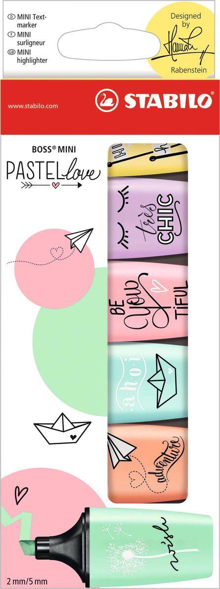 STABILO Набор маркеров Boss Mini Pastel Love 6 цветов