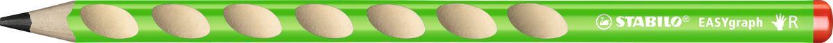 STABILO Карандаш чернографитный EASYgraph для правшей цвет корпуса зеленый bed linen ethel 1 5 cn love 143х215 cm 150х214 cm 50х70 3 2 pcs ранфорс 111g m2