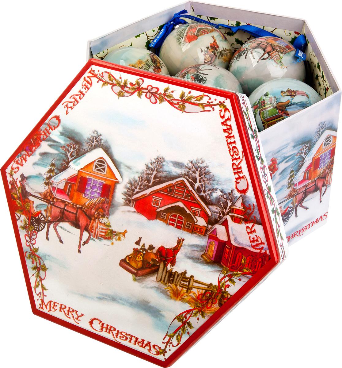 Набор новогодних подвесных украшений Mister Christmas Папье-маше, диаметр 7,5 см, 14 шт. PM-13-14 украшение новогоднее подвесное mister christmas папье маше диаметр 7 5 см pm 15 1t