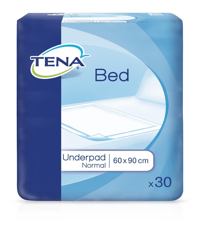 Tena Bed Впитывающие Простыни Нормал 60 х 90 см, 30 шт770038Одноразовые впитывающие простыни (пеленки) ТЕНА БЕД АНДЕРПАД НОРМАЛ (TENA Bed Normal) 60x90 изготовлены из 100% распущенной целлюлозы и обеспечивают впитывание и удержание жидкости. Одноразовые впитывающие простыни (пеленки) в основном используют для защиты постели от протеканий, а также для проведения гигиенических процедур. Эффективные и функциональные, они очень удобны для ухода при недержании мочи у взрослых, а также при уходе за маленькими детьми.