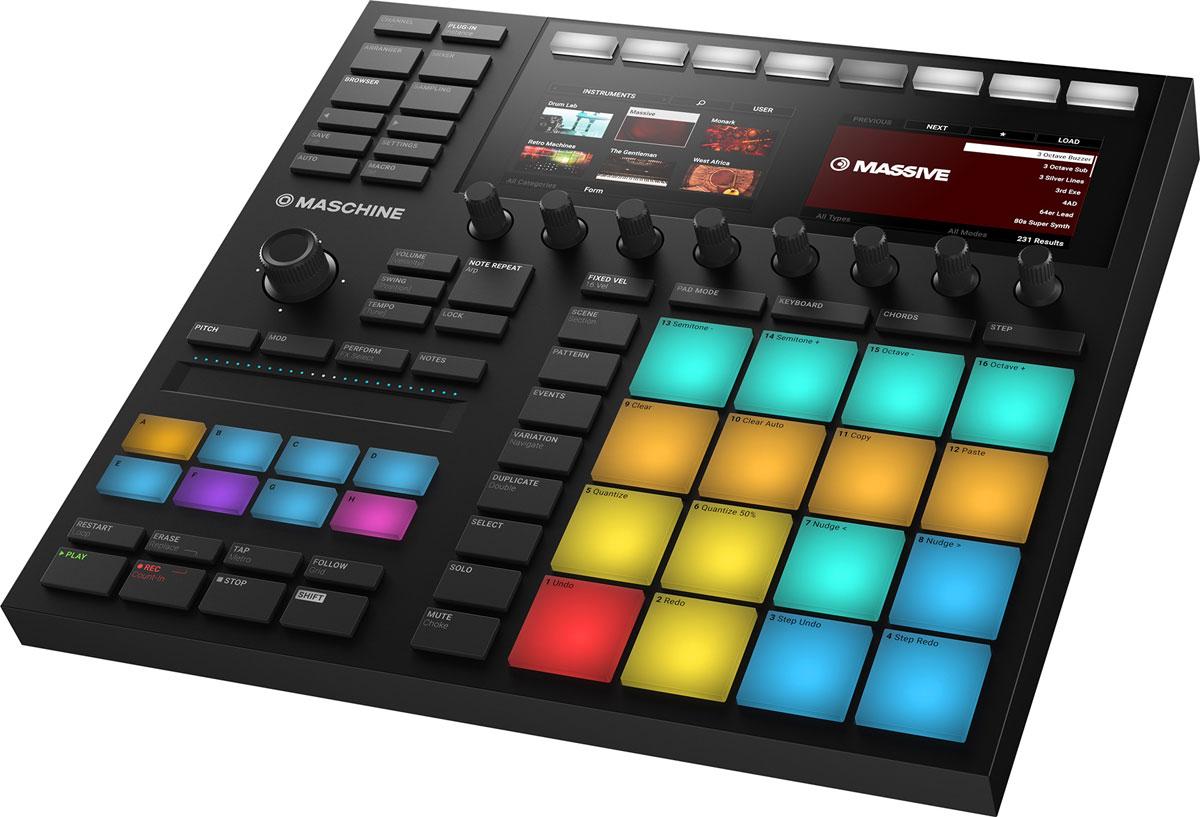 Native Instruments Maschine Mk3, Black MIDI-контроллер midi контроллер native instruments maschine studio white