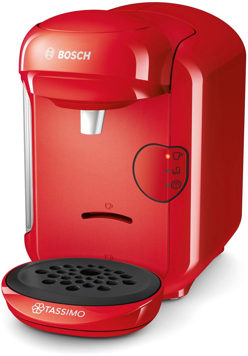 лучшая цена Bosch Tassimo Vivy II TAS1403, Red капсульная кофемашина