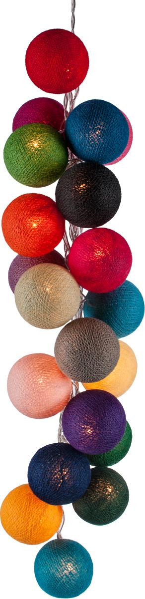 Гирлянда электрическая Гирляндус Микс, из ниток, LED, 220В, 50 ламп, 7,5 м гирлянда электрическая гирляндус гольф из ниток led 220в 36 ламп 5 м