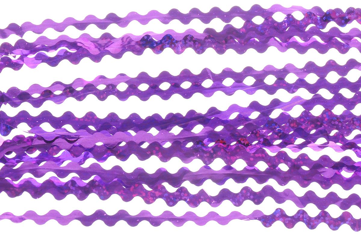 Дождик Magic Time, цвет: фиолетовый, диаметр 9 см, длина 100 см. 7574775747Дождик Magic Time, выполненная из ПЭТ (Полиэтилентерефталат), поможет вам украсить свой дом к предстоящим праздникам. Изделие выполнено в виде скрученной косички. Новогодняя елка с таким украшением станет еще наряднее. Мишура армирована, то есть имеет проволоку внутри и способна сохранять форму. Дождиком можно украсить все, что угодно - елку, квартиру, дачу, офис - как внутри, так и снаружи. Можно сложить новогодние поздравления, буквы и цифры, мишурой можно украсить и дополнить гирлянды, можно выделить дверные колонны, оплести дверные проемы. Коллекция декоративных украшений из серии Magic Time принесет в ваш дом ни с чем несравнимое ощущение волшебства! Создайте в своем доме атмосферу тепла, веселья и радости, украшая его всей семьей.