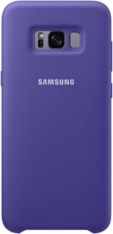 все цены на Samsung Silicone Cover чехол для Galaxy S8+, Violet онлайн