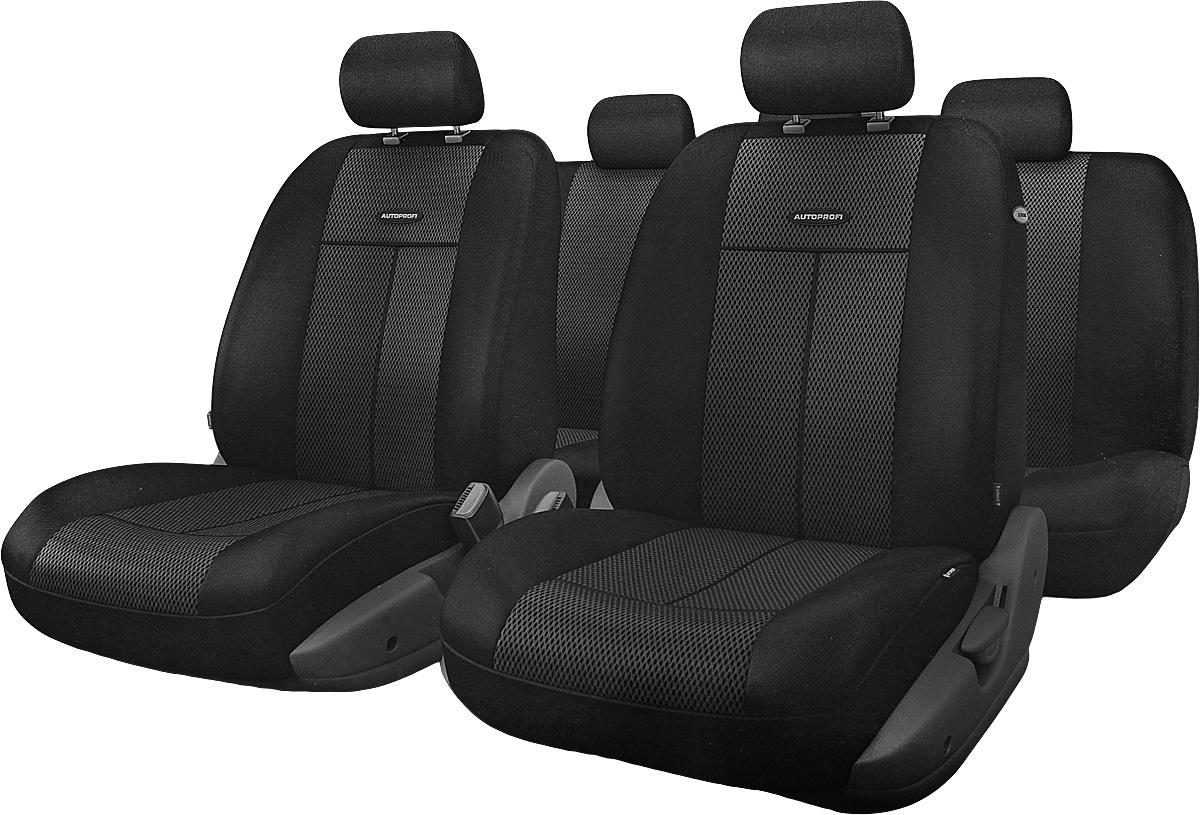 Авточехлы Autoprofi TT, цвет: черный, 9 предметов. TT-902M BK/BK alliance 324 9 5 32 tt