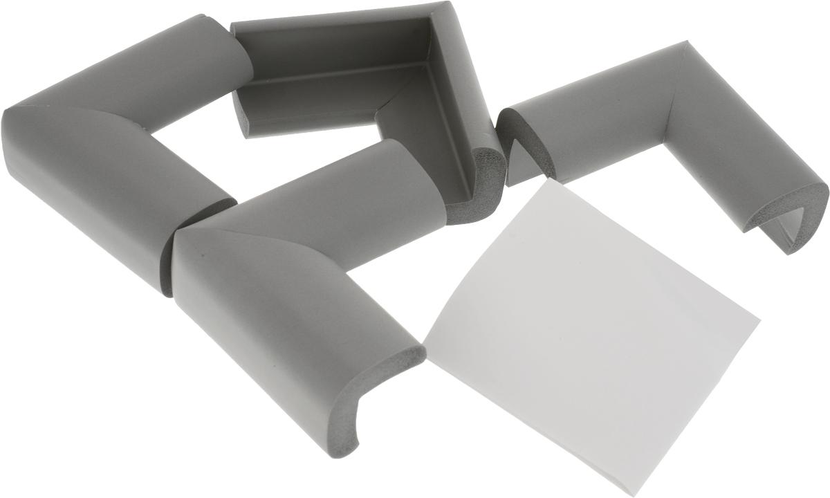 Happy Baby Накладки на углы Soft Corner Guard цвет серый 4 шт