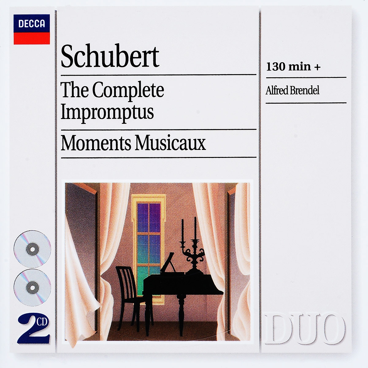 Schubert. Alfred Brendel. The Complete Impromptus - Moments Musicaux (2 CD) альфред брендель alfred brendel schubert complete impromptus