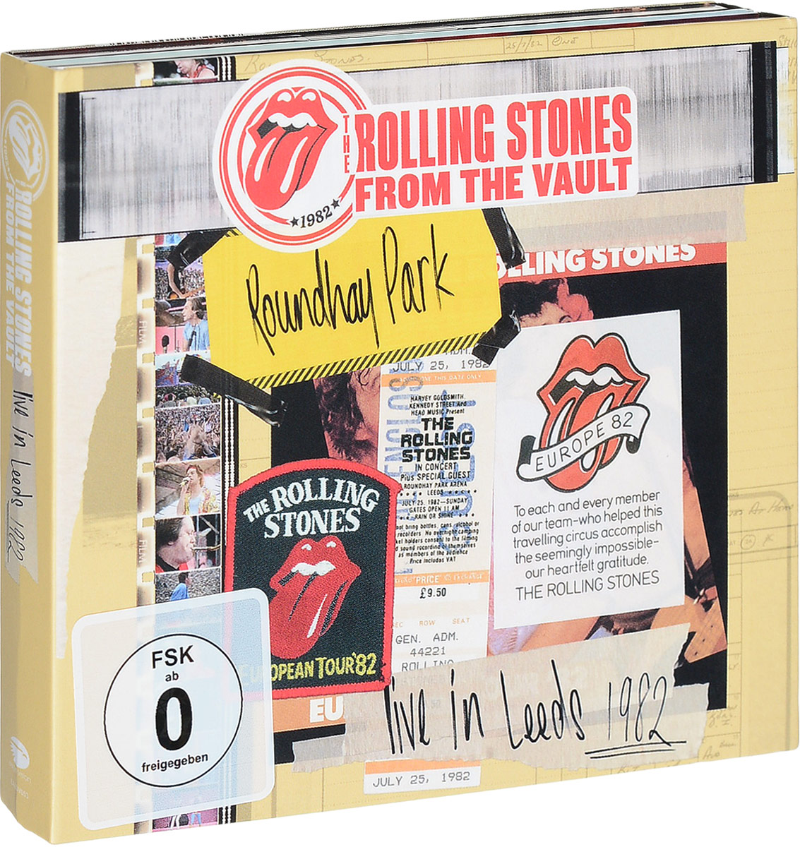 Rolling Stones: The From The Vault: Live In Leeds 1982 (DVD + 2 CD) erotic fantasies in uniform 2 cd dvd