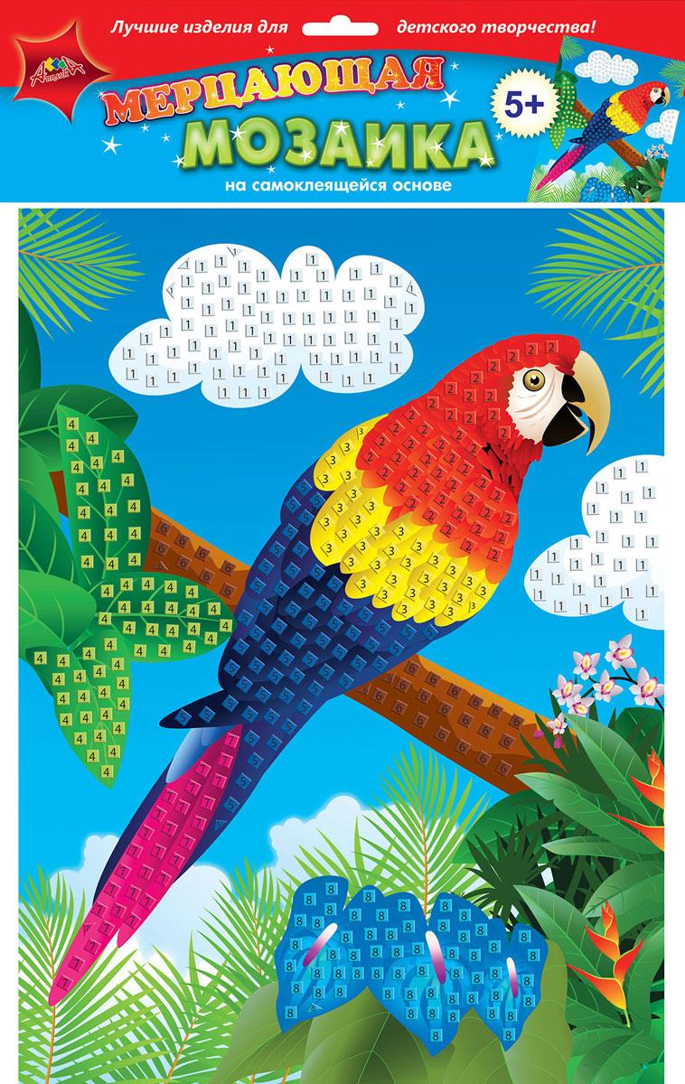 Апплика Набор для создания картины Мерцающая мозаика Попугай Ара апплика набор для создания букета розы