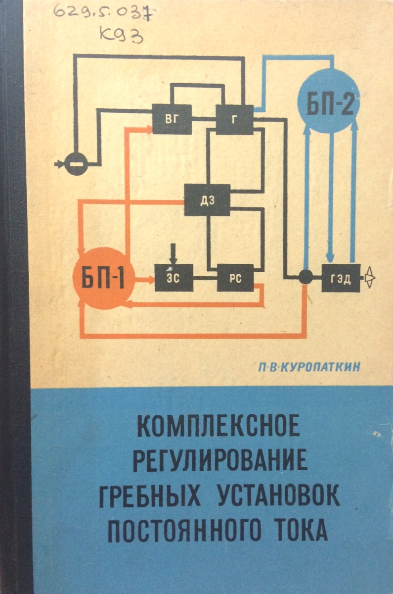 П.В. Куропаткин Комплексное регулирование гребных установок постоянного тока цена