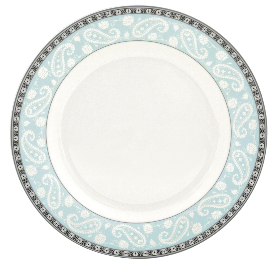 """Набор десертных тарелок Esprado """"Arista Blue"""", цвет: белый, черный, голубой, диаметр 20 см, 6 шт . ARB020BE301"""